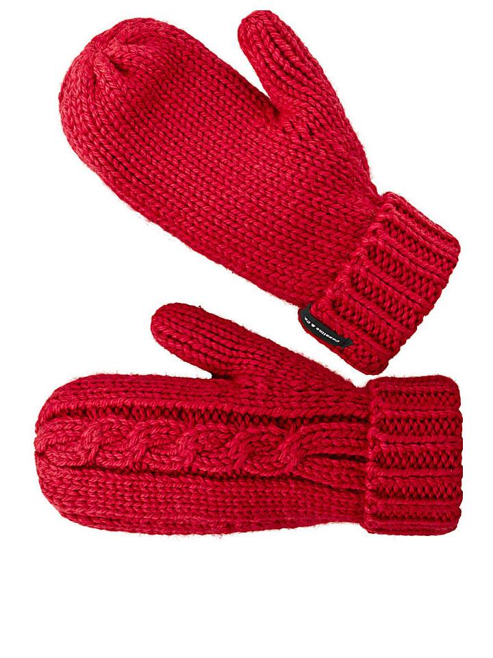 Casalino Fäustlinge Milano mit Wollanteil in Rot - 55%   Damenhandschuhe