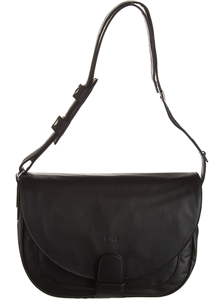 Bree Leder-Schultertasche ´´Lady Top 3´´ in Schwarz - (B)34 x (H)25 (T)9 cm 44% | Damen taschen