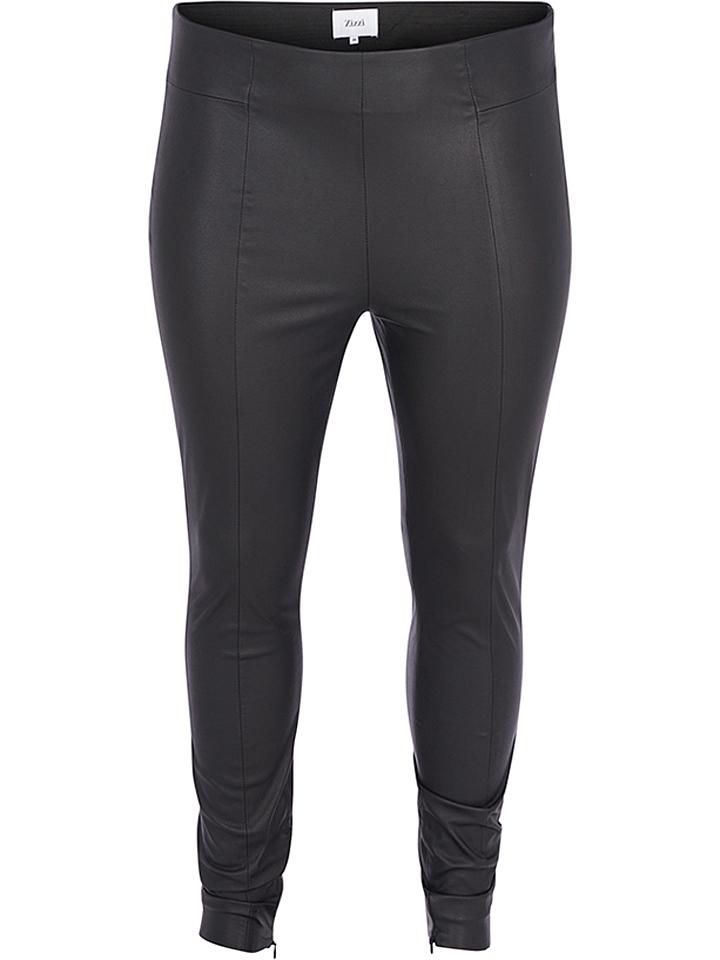Zizzi Leggings in Schwarz - 62 Größe 42 44 Damenhosen