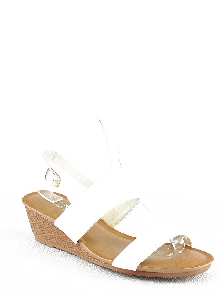 C´M Keilsandaletten in Weiß - 59%   Größe 39   Damen sandalen