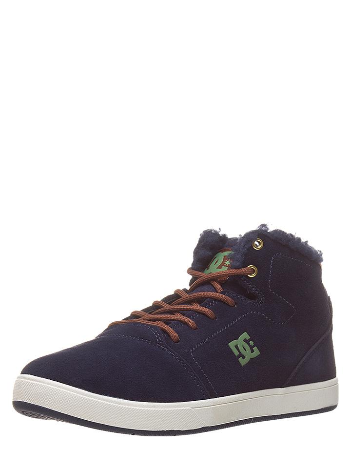 DC Shoes Leder-Sneakers ´´Crisis´´ in Dunkelblau - 73% | Größe 35 | Kindersneakers