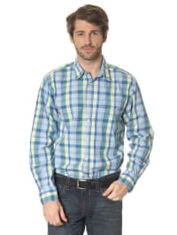 Tom Tailor Hemd in Blau/ Gelb