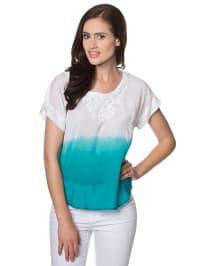 "Vero Moda Shirt ""Gralina"" in Weiß/ Türkis"
