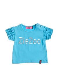 ZieZoo T-Shirt mit Aufschrift in türkis