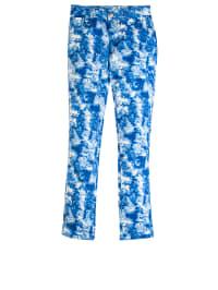 Topo Jeans in Blau/ Weiß