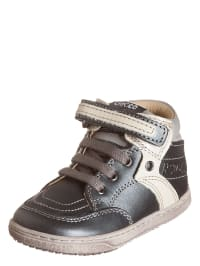 "Chicco Leder-Sneakers ""Going"" in Anthrazit/ Creme/ Grau"