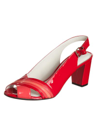 "Geox Leder-Peeptoes ""Symphony"" in Rot"