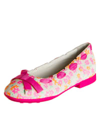 "Geox Leder-Ballerinas ""Opera"" in Beige/ Pink"