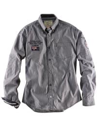 Roadsign Hemd in grau/ weiß