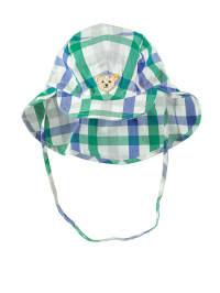 Steiff Hut in Weiß/ Blau/ Grün