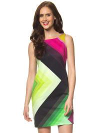 """Desigual Kleid """"Ston"""" in Schwarz/ Pink/ grün"""