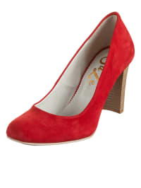 Suze Leder-Pumps in rot