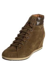 "Geox Leder-Boots ""Illusion"" in Khaki"