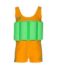 """Beverly Kids Schwimmanzug """"Turtle Boy"""" mit Schwimmhilfe in Gelb/ Grün"""