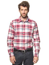 Luis Trenker Hemd in rot/ weiß