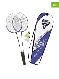 "Talbot Torro 6tlg. Set: Badminton ""2 Fighter Premium"" in Blau/ Weiß"