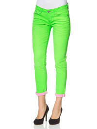 "One Green Elephant Jeans ""Kosai"" in neongrün"