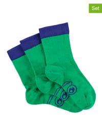 Green Cotton 3er-Set: Socken in Grün