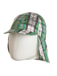 Döll Nackenschutzmütze in Grün/ Weiß