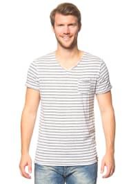 Jack & Jones Shirt in Grau/ Weiß