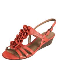 Clarks Leder-Sandaletten in orange