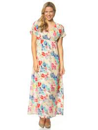 """Vero Moda Kleid """"Flower Joe"""" in Beige/ Bunt"""