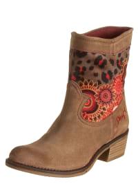 "Desigual Boots ""Campera Salva"" in Hellbraun/ Rot"