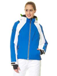 Hyra Ski-/ Snowboardjacke in Blau/ Weiß