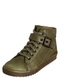 Richter Shoes Leder-Sneakers in Khaki