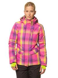 "Icepeak Ski-/ Snowboardjacke ""Jutta"" in Pink/ Gelb"