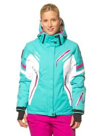 "Icepeak Ski-/ Snowboardjacke ""Tiffany"" in Türkis/ Weiß"