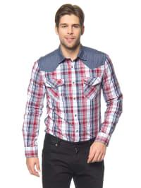 Tom Tailor Hemd in Blau/ Weiß/ Rot