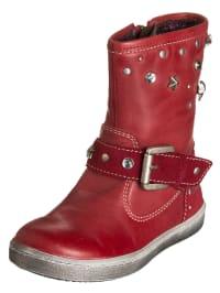 Primigi Leder-Stiefel in Rot