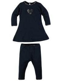 Lofff Outfit: Kleid und Leggings in dunkelblau