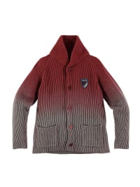 Geox Strickjacke in rot/ grau