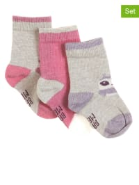 Mexx 3er-Set: Socken in Silber/ Rosa/ Flieder