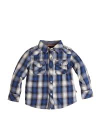 Paglie Hemd in Weiß/ Blau/ Grau