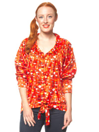 "Blutsgeschwister Bluse ""Wondervolume"" in Orange/ Rot"