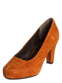 Andrea Conti Leder-Pumps in Orange