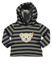 Steiff Sweatshirt in Khaki/ Dunkelblau