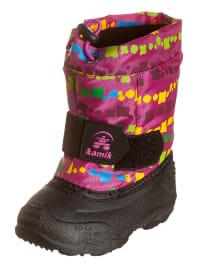 """Kamik Winterboots """"TickleEU2"""" in Pink/ Schwarz/ Bunt"""
