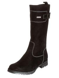 Richter Shoes Leder-Stiefel in Schwarz
