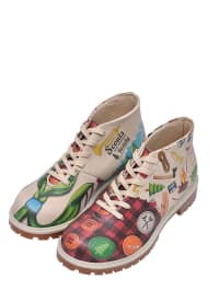 "Dogo Schnürboots ""Scouts Are Always ready"" in Creme/ Bunt"