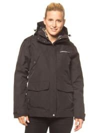 "Didrikson 3in1-Funktionsjacke ""Julia"" in Schwarz/ Grau"