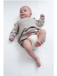 """Lodger Schlafsack """"Hopper Newborn"""" in Taupe - (B)21,50 x (L)63,00 cm"""