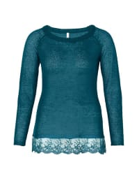 Sheego Pullover in Petrol
