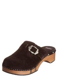 Stockerpoint Leder-Clogs in Braun