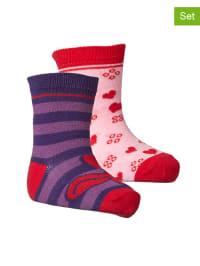 """Legowear 2er-Set: Socken """"Aila 701"""" in Rosa/ Lila"""