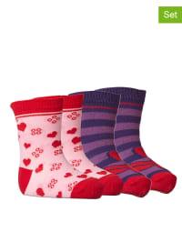 """Legowear 4er-Set: Socken """"Aila 702"""" in Rosa/ Lila"""