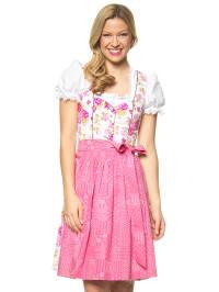 """Turi Landhaus Midi-Dirndl """"Rosalinda"""" in Creme/ Pink"""